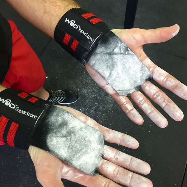 Fitness Junkie Gloves: WOD SuperStore Leather Palm Grip With Wrist Wraps