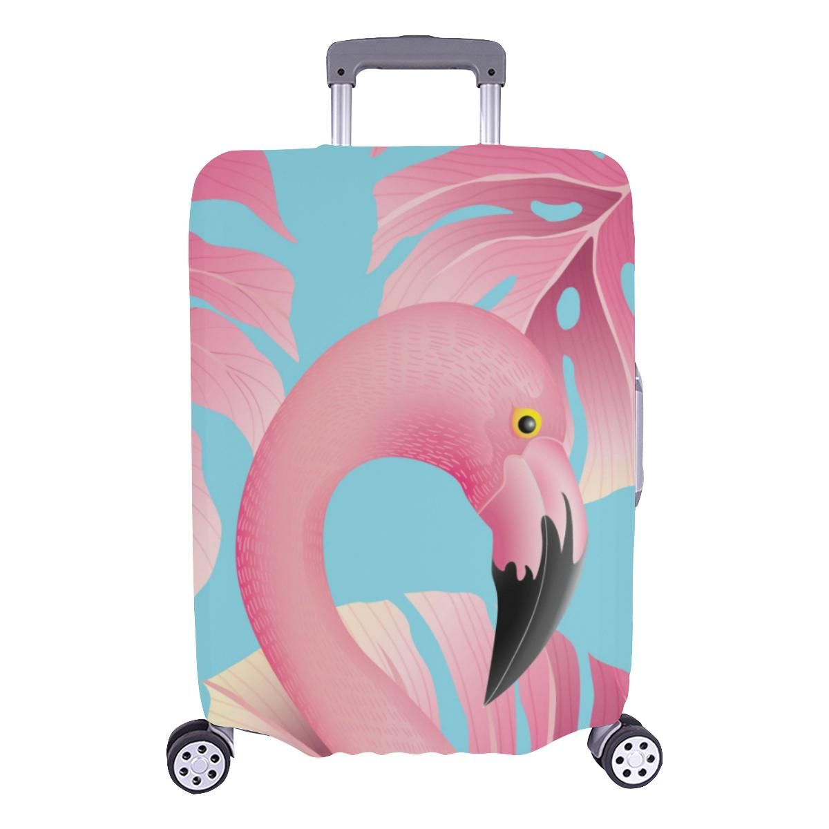 Tropical Flamingo Leather Baggage Suitcase Luggage Tags Travel Accessories