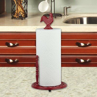 Gracie Oaks Red Rooster Freestanding Paper Towel Holder | Wayfair #papertowelholders