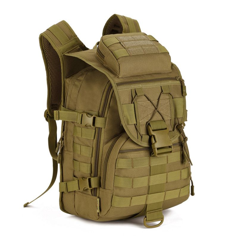 cac5c3a4d1c4 40L Impermeable Mochilas Molle Asalto Militar 3 P Mochila Táctica Bolsa de  Viaje de Nylon para Los Hombres Las Mujeres M108