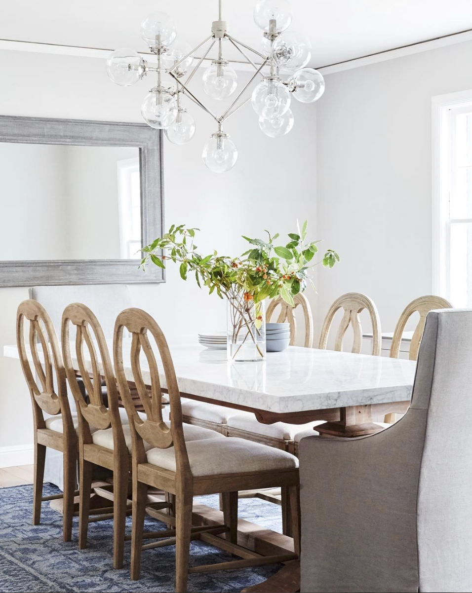 Soft Gray Grey Dining Room 2017 Fresh Bright Different End Chairs
