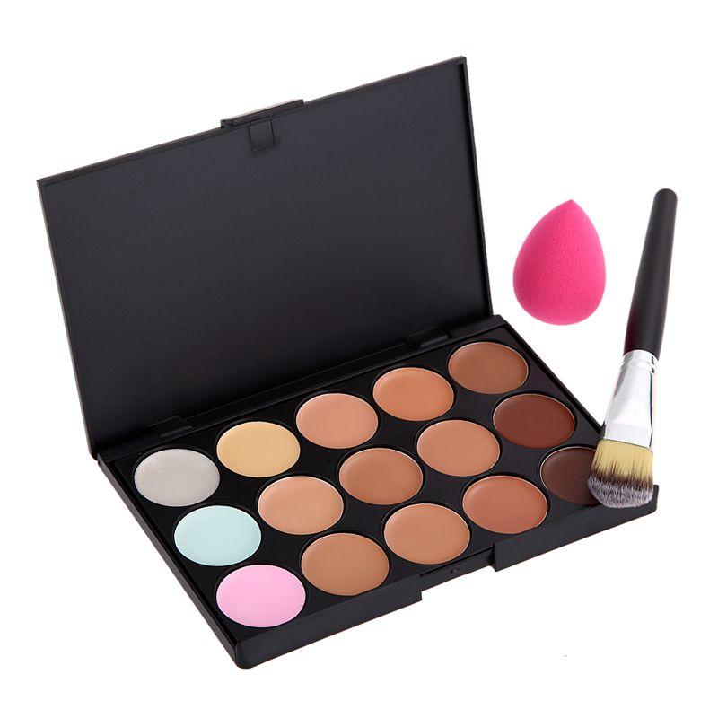 3 in 1 Set 15 Colors Concealer Contour Makeup Palette Cosmetic ...