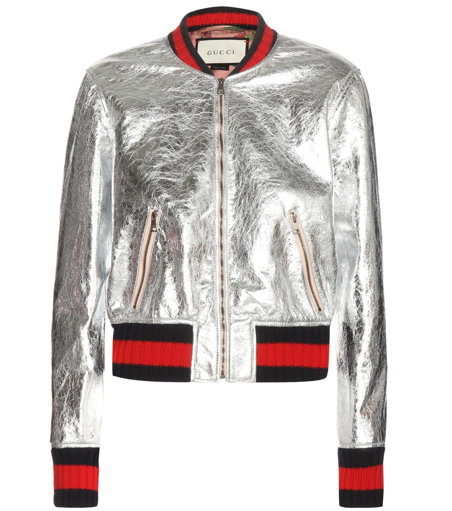mytheresa.com - Veste bomber en cuir métallisé - Luxe et Mode pour femme -  Vêtements, chaussures et sacs de créateurs internationaux c7869dad366