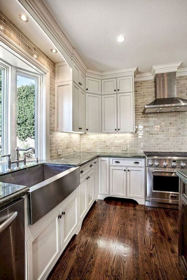 55 amazing farmhouse kitchen backsplash decor ideas white kitchen cabinets farmhouse kitchen on farmhouse kitchen backsplash id=28498