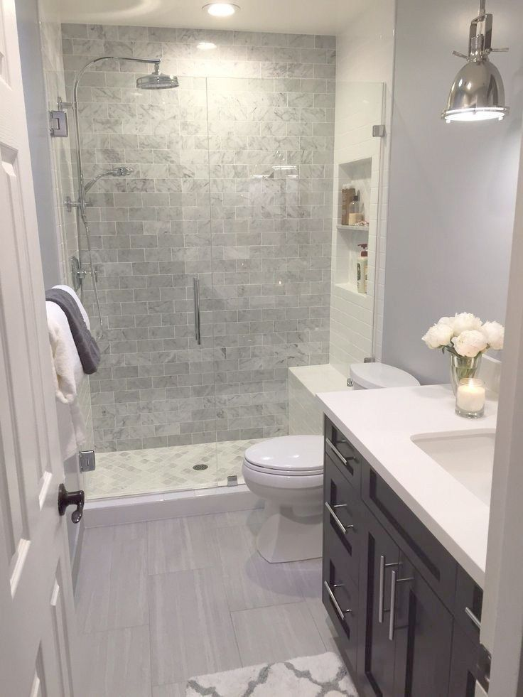 Pin By Eileen Clancy On Remodel 2019 Small Bathrooms Small Bathroom Small Bathroom Remodel Bathroom Design