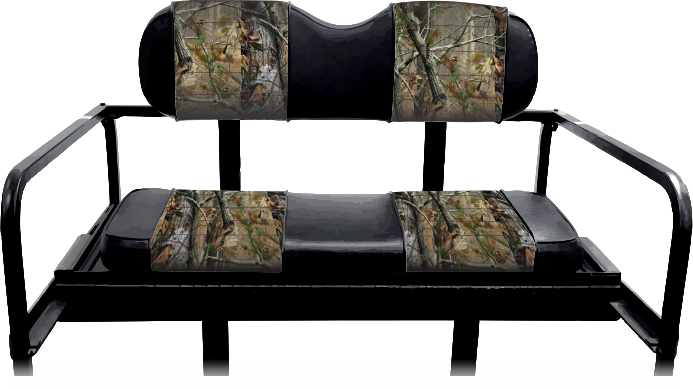 Madjax Rear Seat Cover Set: Camouflage Sewn