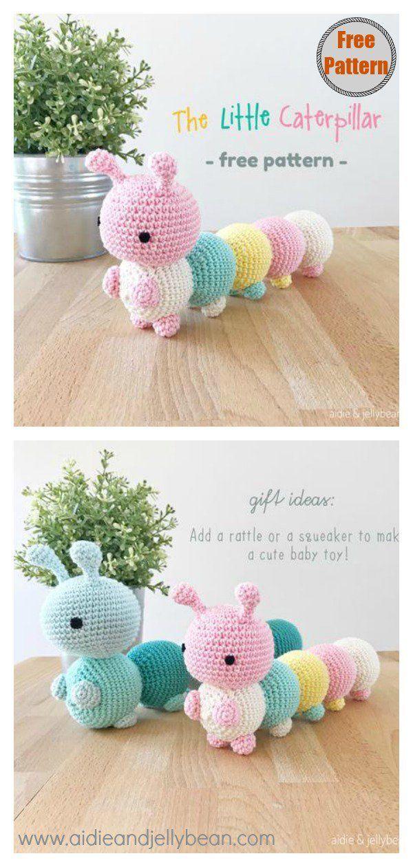 Cuddly Caterpillar Amigurumi Free Crochet Pattern