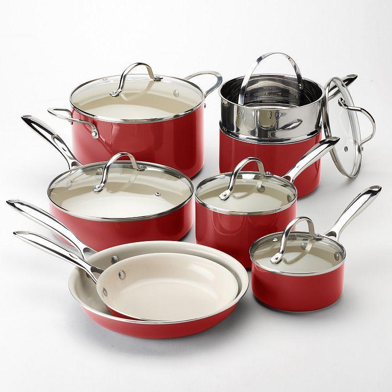 Food Network 13 Pc Ceramic Nonstick Cookware Set Ceramic Nonstick Cookware Ceramic Cookware Set Ceramic Cookware
