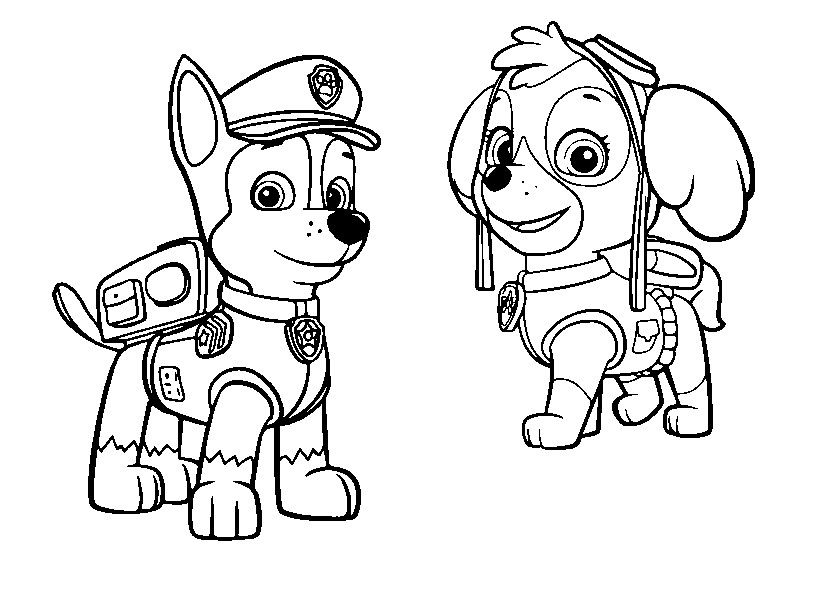 paula marshall coloring pages | Stella and Chase | free paw patrols | Dessin pat ...