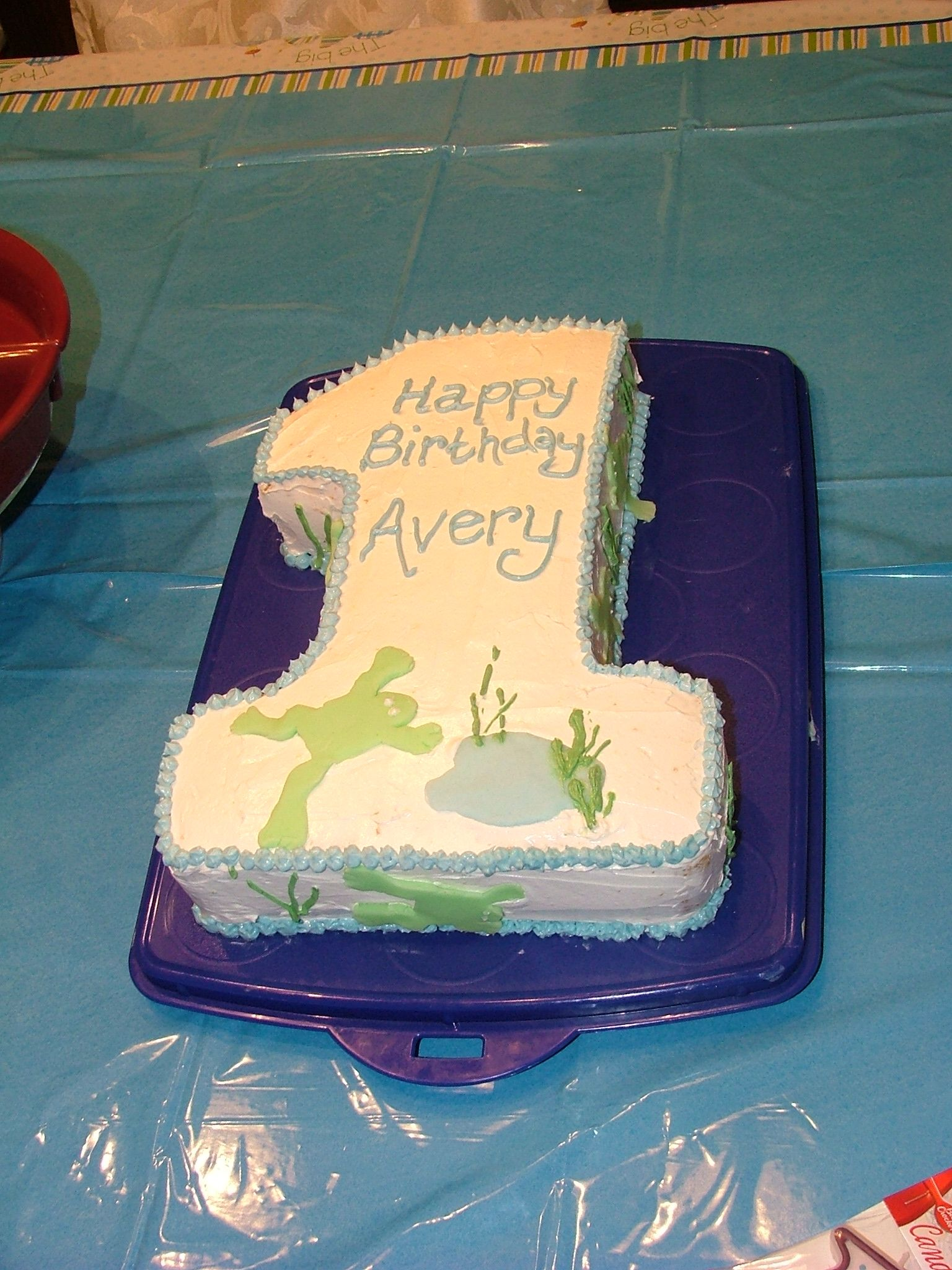 First Birthday Cake With Fondant Frog My Creations Pinterest