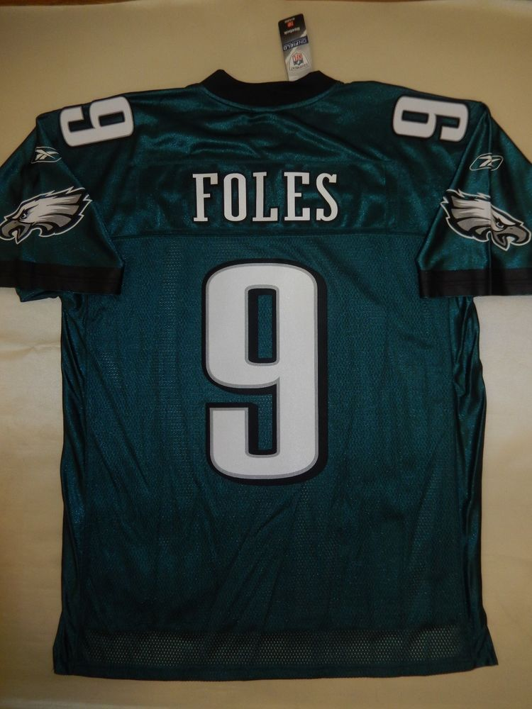 reputable site bd641 595ad Details about 9601 REEBOK Philadelphia Eagles NICK FOLES ...
