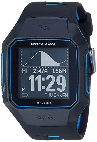 Rip Curl Men's SearchGPS Quartz Sport Watch with Polyurethane Strap, Black, 25.9 (Model: A1144-BLU) #sportswatches