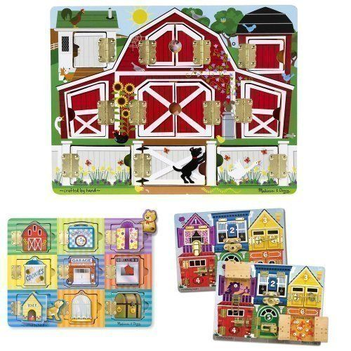 Melissa And Doug Magnetic Farm Hide And Seek Latches Board