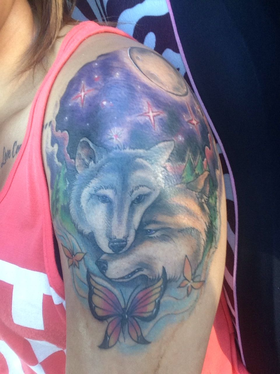 Lupus tattoo for my mom canis lupus gray wolf butterflies lupus lupus tattoo for my mom canis lupus gray wolf butterflies lupus symbol and a majority of the tattoo is colored purple including the wolves eyes biocorpaavc Image collections