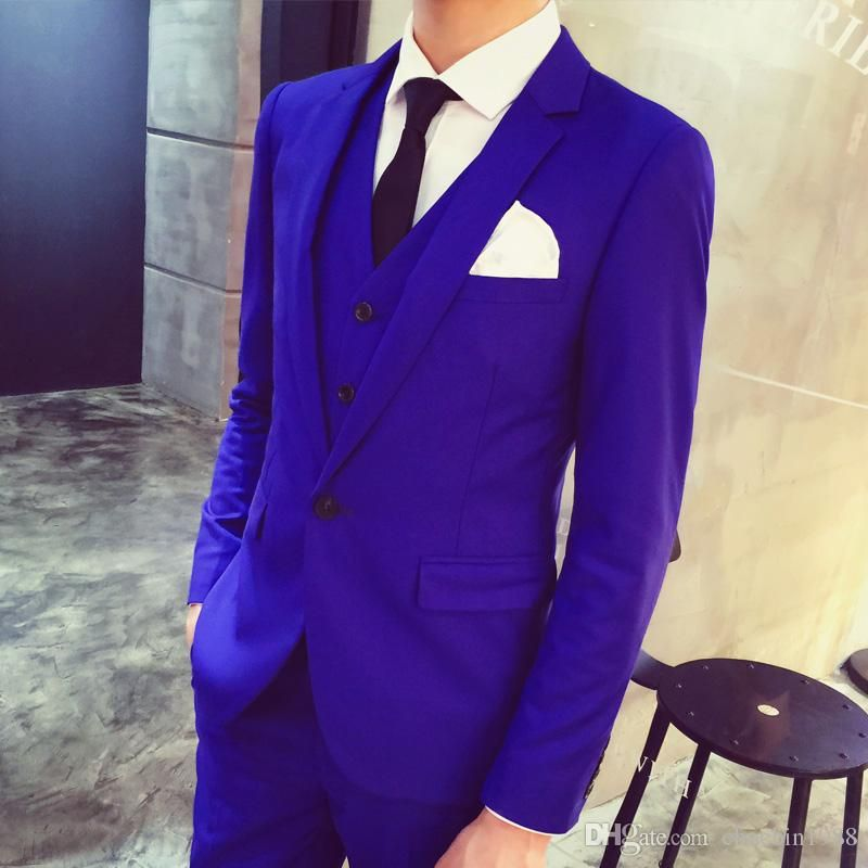 Mens Wedding Suits 2016 Silver Prom Groom Tuxedos (Jacket+Pants+Vest ...