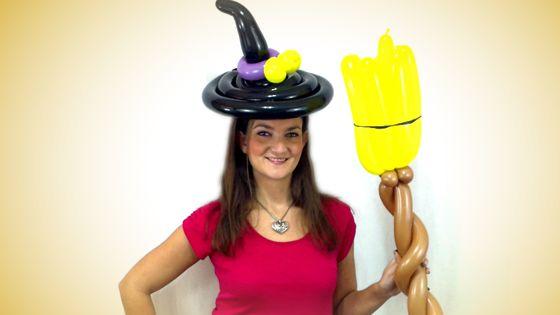 balloon witch costume how to - Halloween Balloon Animals