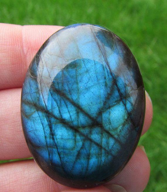 labradorite cabochon - 77cts stone cabochon - labradorite jewelry - blue cabochon - on Etsy, $30.00