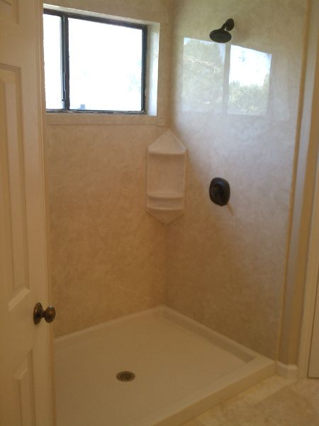 Tub to shower conversion by BEKMODE - Cypress, Texas. Luxury acrylic ...