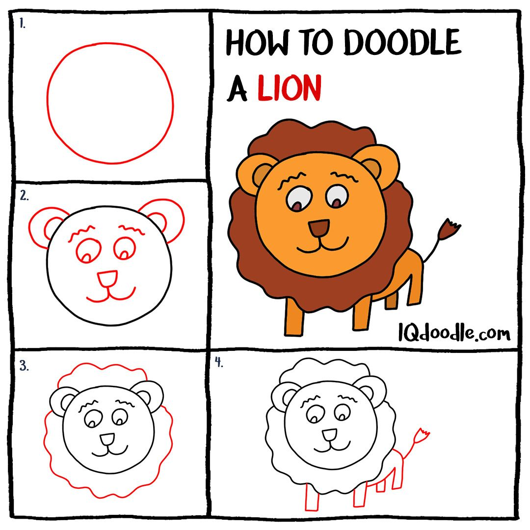 How To Doodle Lion