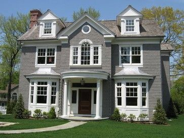 New Construction Portico Design House Exterior Victorian Homes