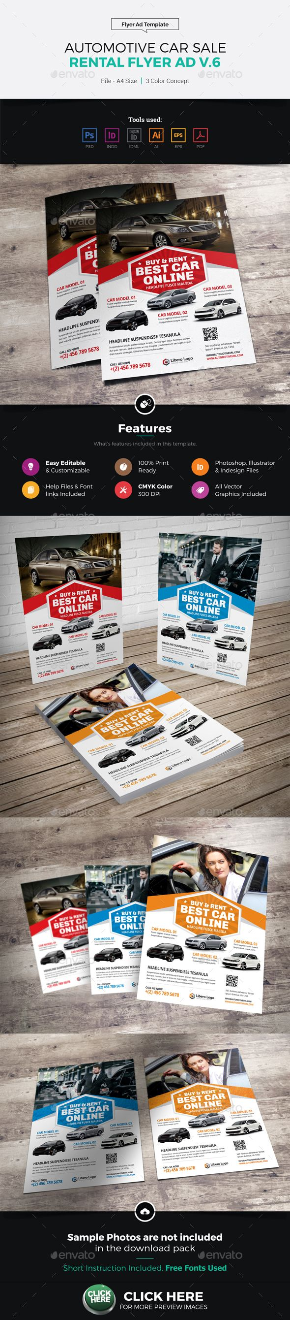 Car For Sale Flyer Automotive Car Sale Rental Flyer Ad V6  Flyer Templates  Pinterest .