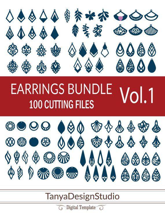 Photo of 100 earrings bundle VOL.1 – leather jewelry – leather earrings – wooden earrings … – 1 …