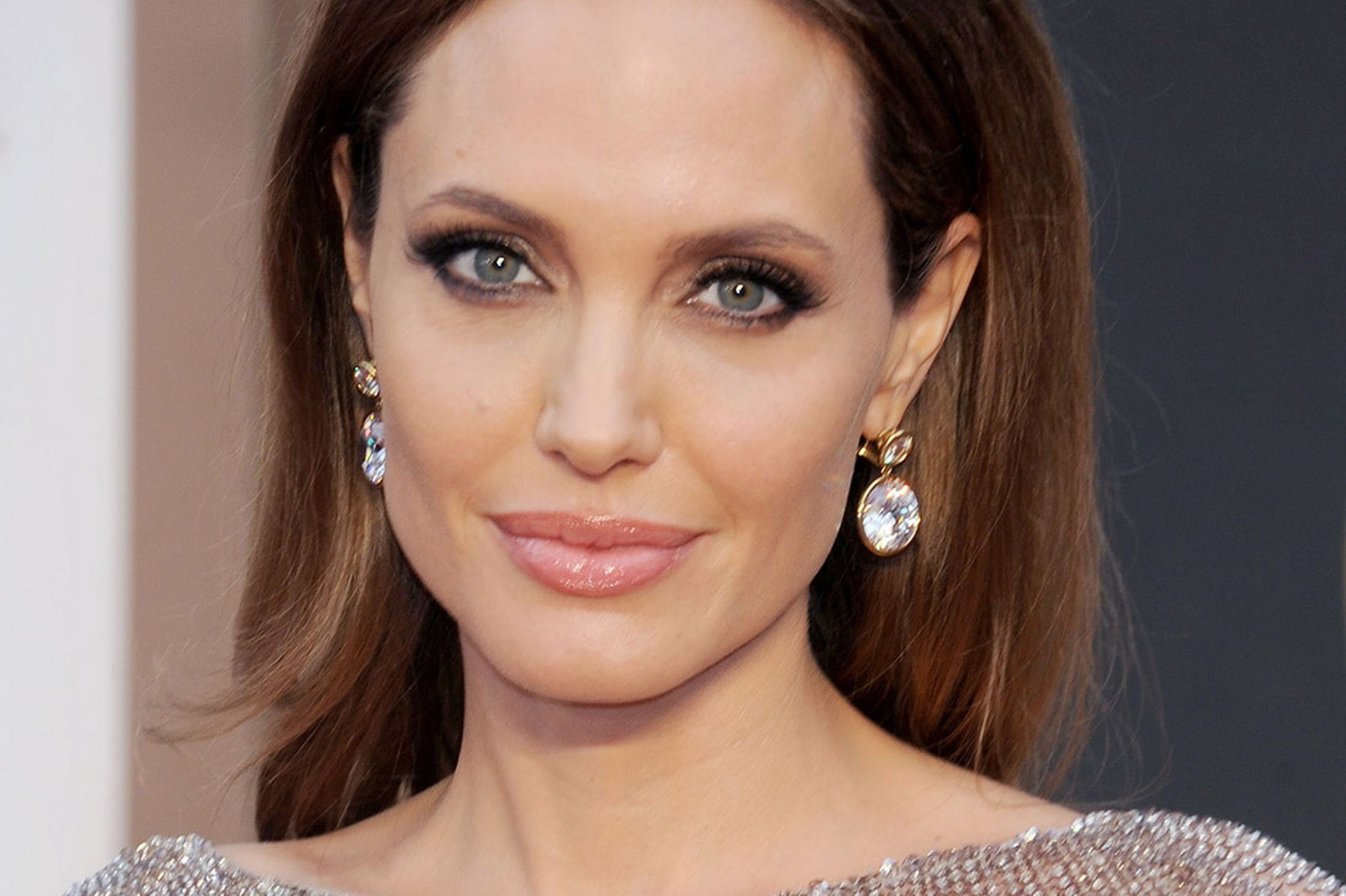 Female Celebrities With Light Brown Hair with angelina's light eyes really stand out from her dark brown hair