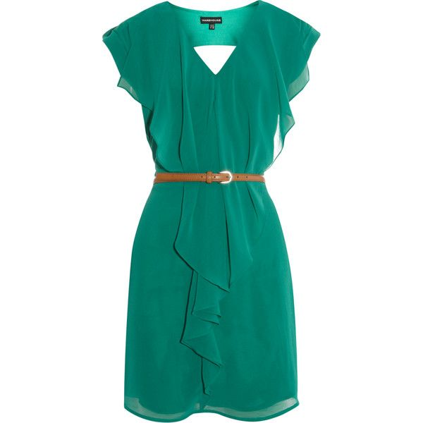 Ruffle Front Clean Dress