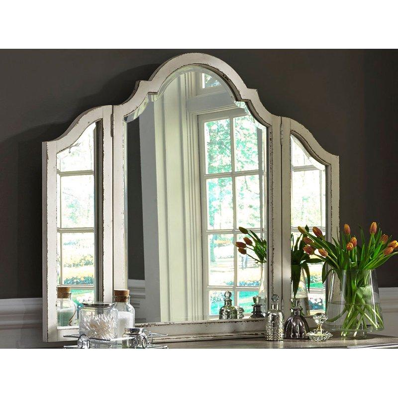 Antique White Traditional Vanity Mirror
