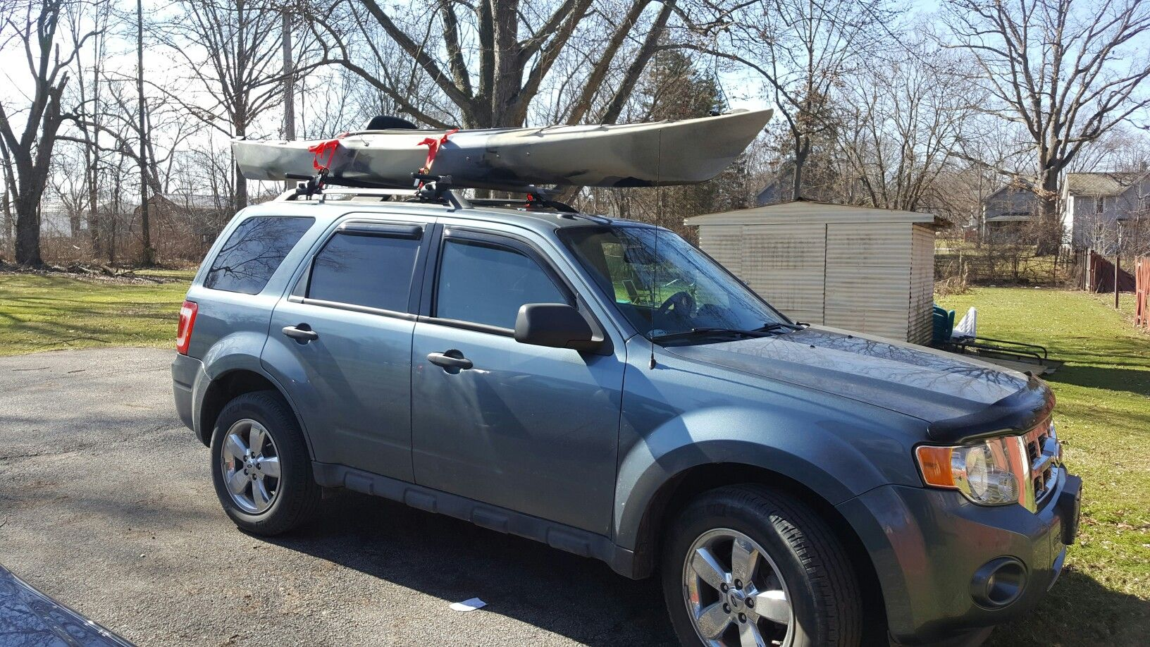 My New Kayak Field And Stream Eagle Run 12 Foot Kayak Kayaking Suv Suv Car