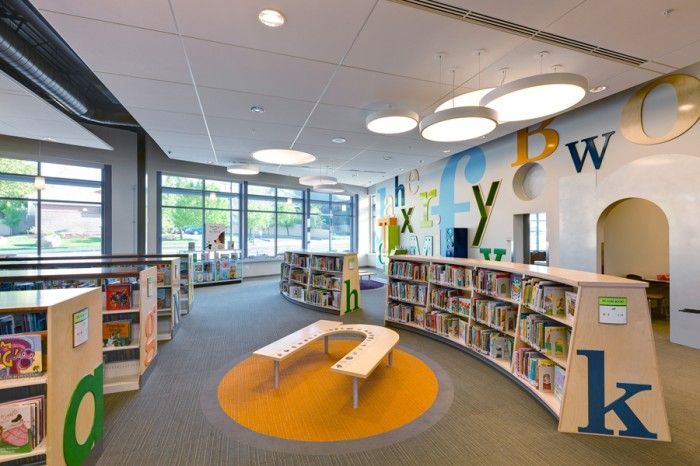 Elementary Library Interior Art Google Search School Library Design Library Decor Kids Library