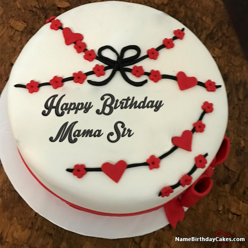 The Name Mama Sir Is Generated On Special Happy Birthday Cake