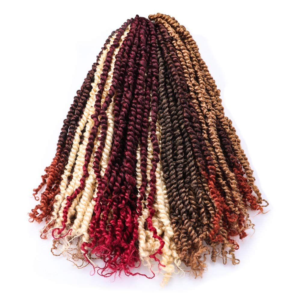 Passion Twist Hair Ombre Burgundy Water Wave Bohemian Braids #passiontwistshairstylelong