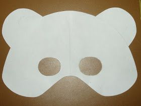 Bear Mask template to make