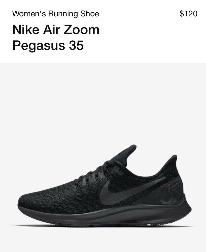 26ab6ec8454b0 Nike Women Air Zoom Pegasus 35 Running Shoes 942851 002 Black/Oil ...