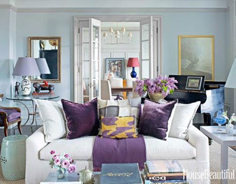 145+ Fabulous Designer Living Rooms Purple accents, Living rooms