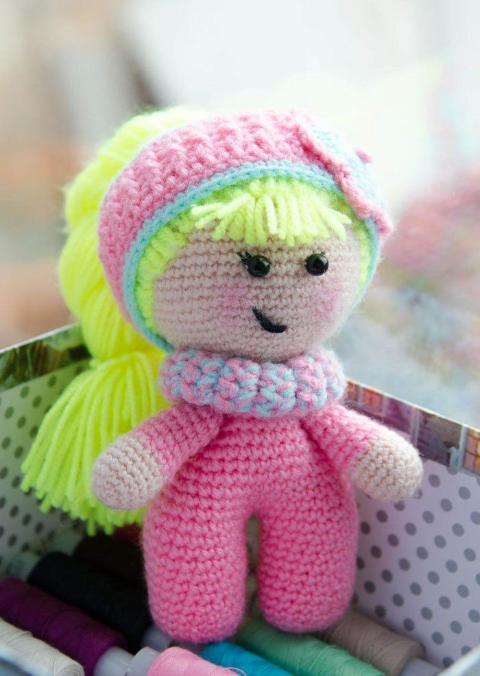 Baby doll amigurumi crochet pattern | muñecos | Pinterest | Patrones ...