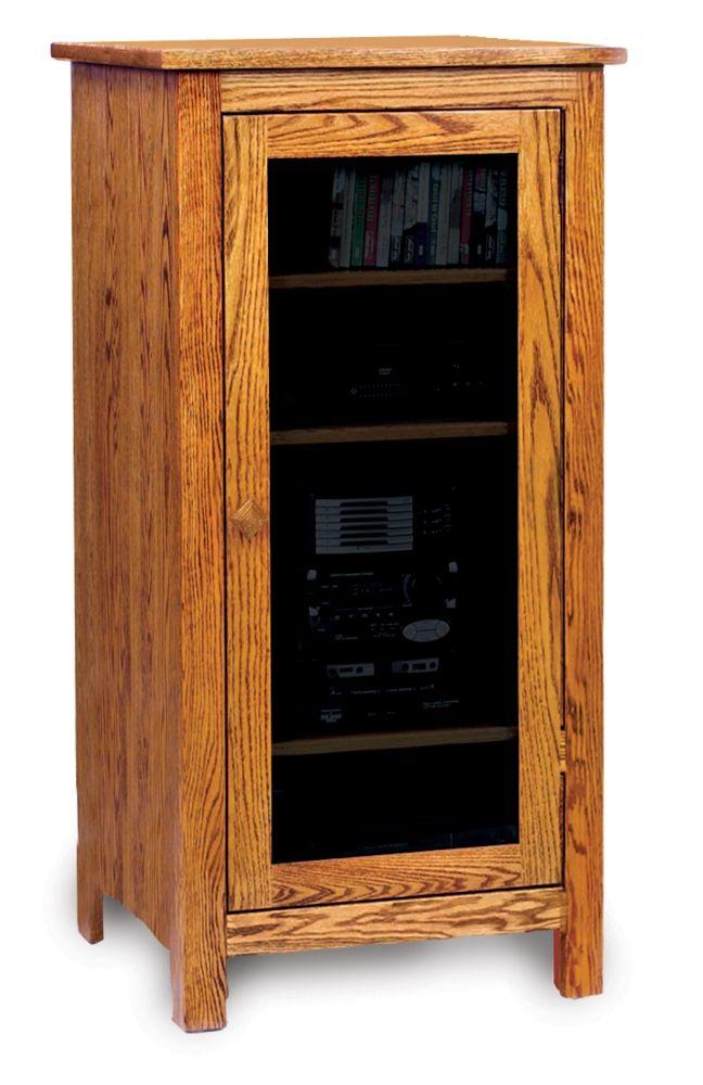 Wood Audio Cabinet Stereo Cabinet Audio Cabinet Adjustable Shelving