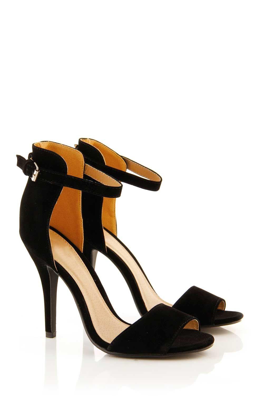 Black Single Strap Heels