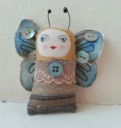 Resultado de imagen para paper clay brooch - hand painted doll face cameo pin brooch