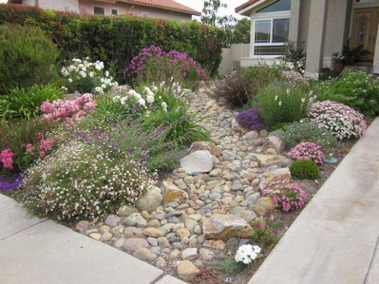 68 Marvelous Rock Garden Ideas Backyard Front Yard Front Yard Garden Design Small Front Gardens Landscaping With Rocks