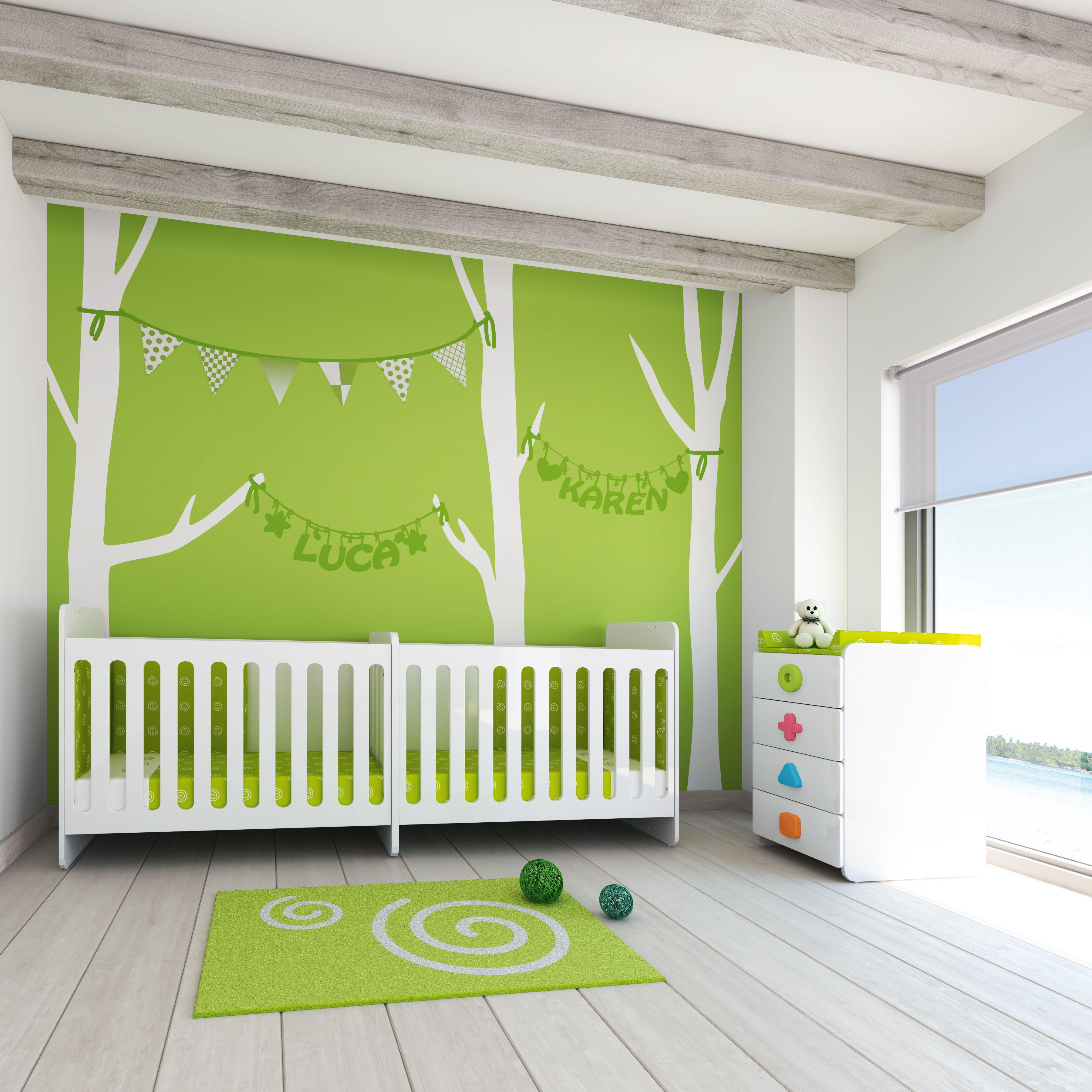 Cuna convertible para beb s gemelos de dise o y moderna - Cunas para bebes gemelos ...