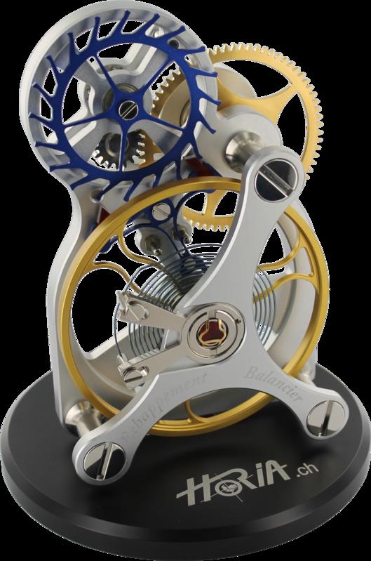 10X real size model of balance wheel Gear clock, Watch