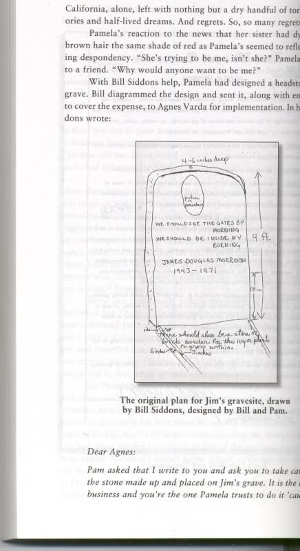 From Angels Dance Angels Die Page 192 193 With Bill Siddons Help Pamela Had Designed A Headstone For Jim S Grave Bill D Jim Morrison Agnes Varda Lettering