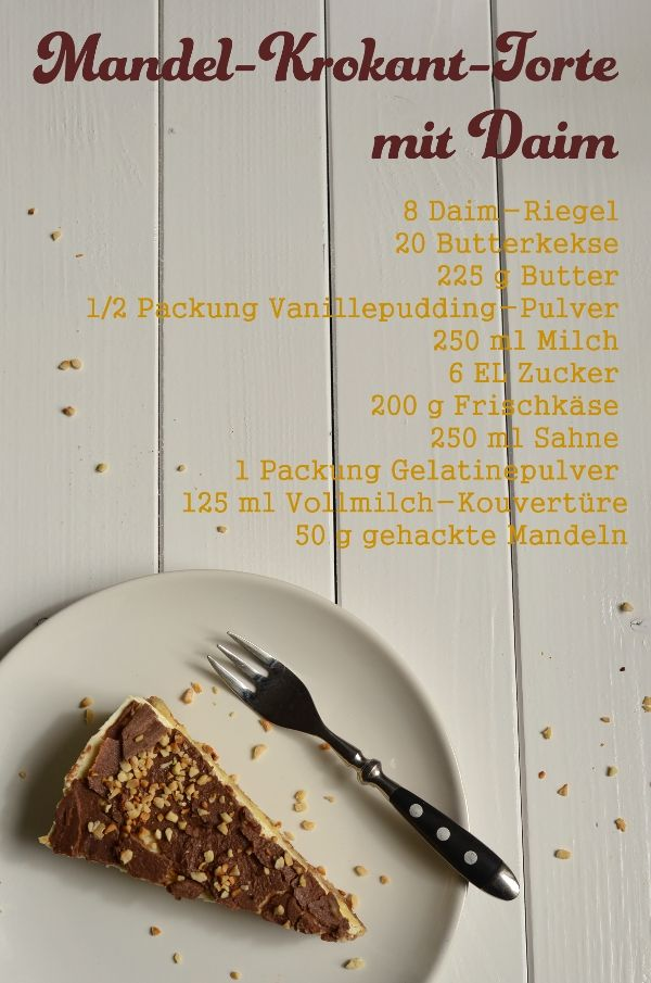 Rezept für Mandel-Krokant-Torte mit Daim (Ikea-Style) auf www ...