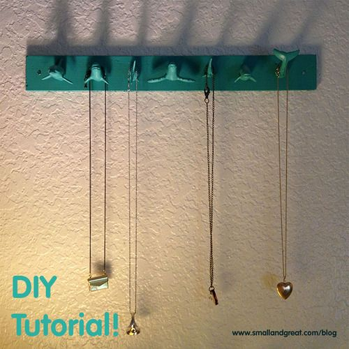 I know, I'm pinning myself. But I was really proud of how this DIY jewelry rack turned out! #organization #tutorial #howto #DIY #crafts