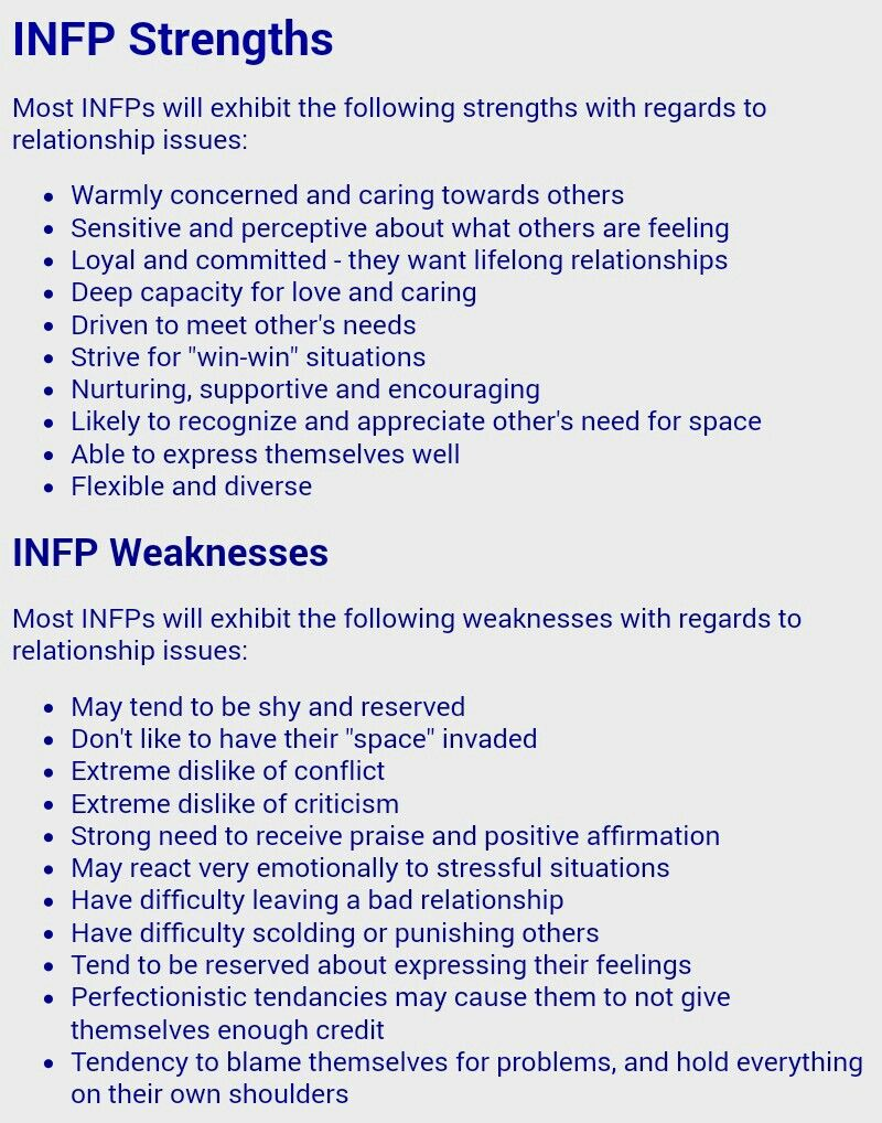 infp dating issues