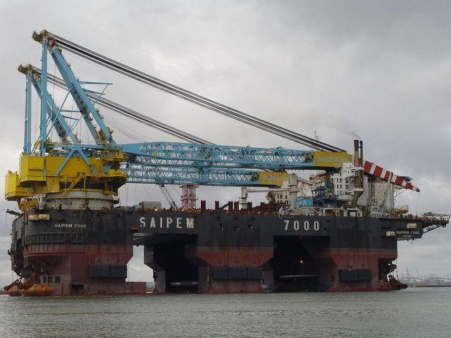 Плавучий кран Saipem 7000 WTF? Pinterest Rigs - container crane operator sample resume