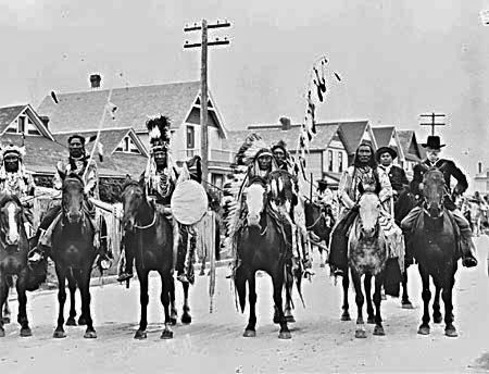 Blackfoot group - circa 1900