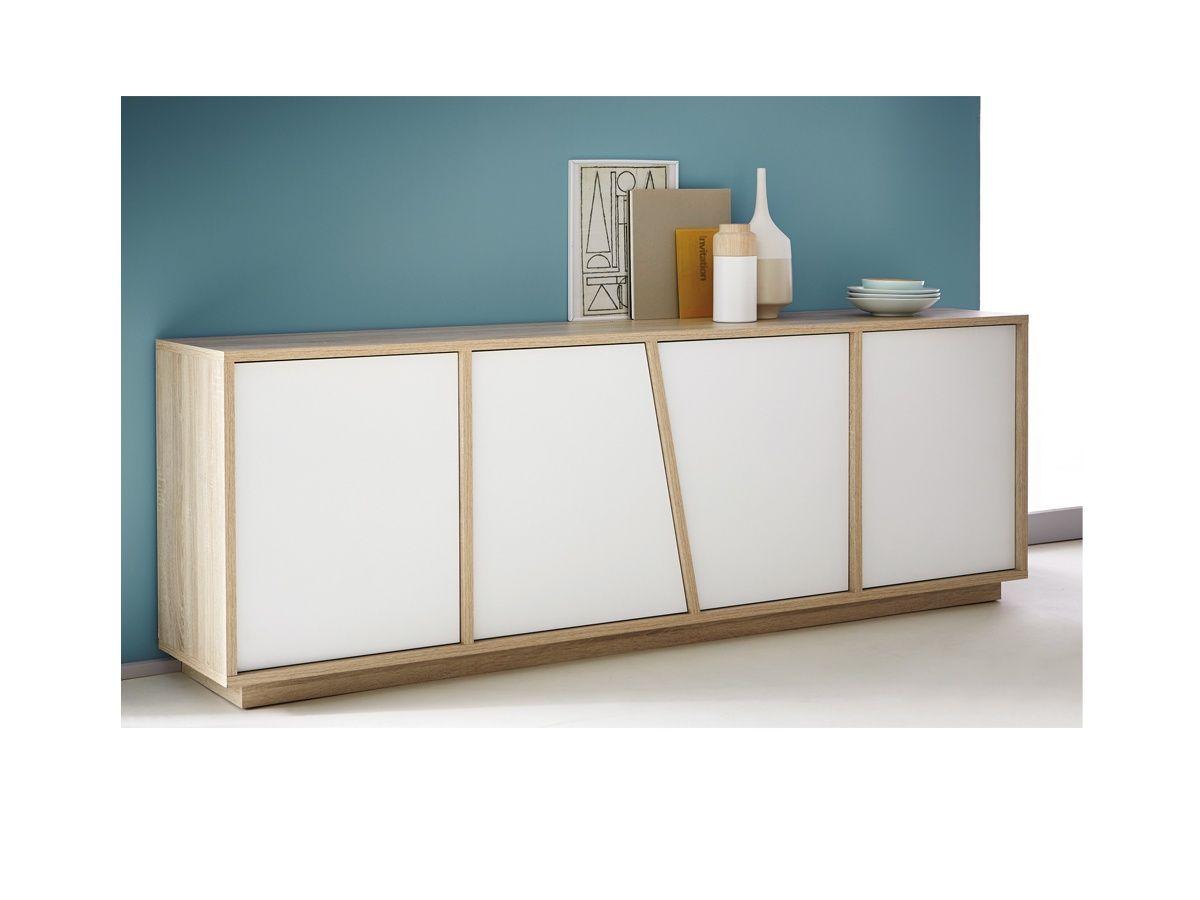 Aparador sal n en m dulos piso mueble tv madera for Proposito del comedor buffet
